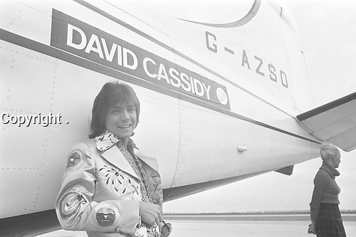 American TV and Pop star David cassidy in Holland, September 8, 1972<br /> <br /> PHOTO : Mieremet, Rob / Anefo