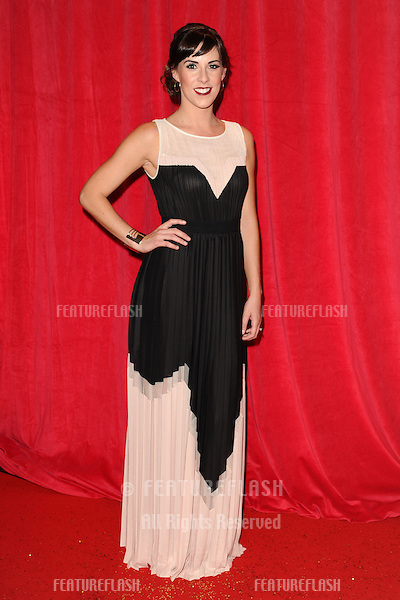 Verity Rushworth arriving for the 2014 British Soap Awards, at the Hackney Empire, London. 24/05/2014 Picture by: Steve Vas / Featureflash