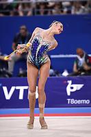 September 14, 2018 - Sofia, Bulgaria - ALEKSANDRA SOLDATOVA of Russia performs during AA final at 2018 World Championships.