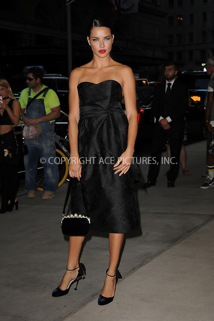 www.acepixs.com<br /> September 8, 2016  New York City<br /> <br /> Adriana Lima attending the The Daily Front Row's 4th Annual Fashion Media Awards at Park Hyatt New York on September 8, 2016 in New York City. <br /> <br /> <br /> Credit: Kristin Callahan/ACE Pictures<br /> <br /> <br /> Tel: 646 769 0430<br /> Email: info@acepixs.com