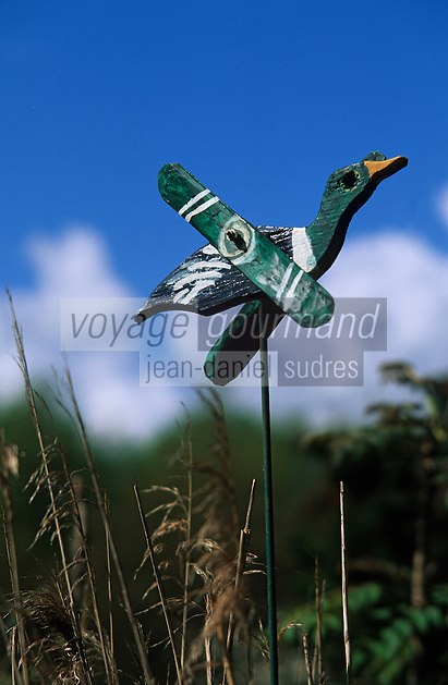 Europe/France/Pays de la Loire/44/Loire-Atlantique/Parc Naturel Régional de Brière/Env Herbignac/Hoscas: Les jardins du marais - Détail girouette