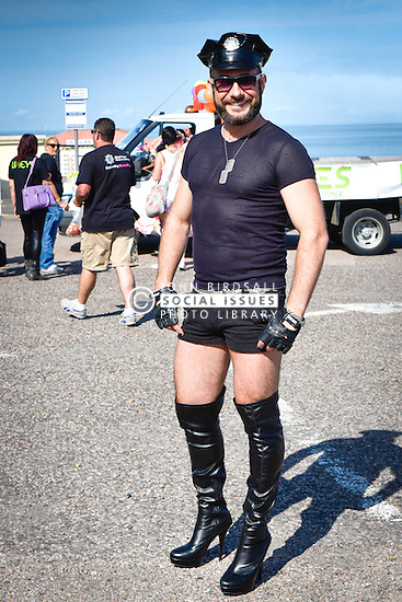 Milan, a Slovakian living in Deal participates in the Kent Pride celebrations in the seaside town of Margate.