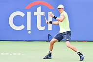 Washington, DC - August 6, 2017: Kevin Anderson (RSA) in action against Alexander Zverev (GER) during the Citi Open Mens Finals at Rock Creek Tennis Center, in Washington D.C. (Photo by Philip Peters/Media Images International)