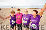 Pictured at the Brandon Bay Half Marathon and 10k on Saturday were Catherine Conroy (Currow), Joan and George Glover (Ballymac), and Ann O'Leary (Currow).