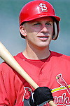 28 February 2007: St. Louis Cardinals shortstop David Eckstein prepares to take batting practice prior to facing the Florida Marlins on Opening Day for Spring Training at Roger Dean Stadium in Jupiter, Florida.<br /> <br /> Mandatory Photo Credit: Ed Wolfstein Photo
