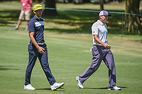 Rafael Cabrera Bello (ESP) and Sergio Garcia (ESP) chat as they head down 2 during round 4 of the World Golf Championships, Mexico, Club De Golf Chapultepec, Mexico City, Mexico. 3/4/2018.<br /> Picture: Golffile | Ken Murray<br /> <br /> <br /> All photo usage must carry mandatory copyright credit (© Golffile | Ken Murray)