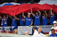 31-01-14,Czech Republic, Ostrava, Cez Arena, Daviscup Czech Republic vs Netherlands, , , Robin Haase (NED)<br /> Photo: Henk Koster