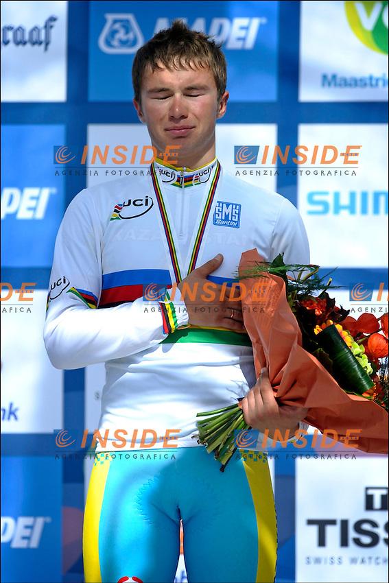 Alexey Lutsenko (KAZAKISTAN) Campione del Mondo.Valkenburg 22/10/2012.Campionati mondiali ciclismo Uomini Under 23.Foto Photonews/Panoramic/Insidefoto .ITALY ONLY