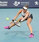 March 27, 2019: Marketa Vondrousova (CZE) is defeated by Karolina Pliskova (CZE)3-6, 4-6, at the Miami Open being played at Hard Rock Stadium in Miami, Florida. ©Karla Kinne/Tennisclix 2010/CSM