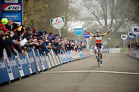 race winner (once again): Sanne Cant (BEL/BKCP-Powerplus)<br /> <br /> Flandriencross Hamme 2014
