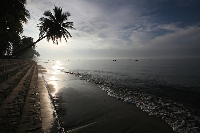 Early morning on the beach in Mui Ne, Vietnam. Nov. 20, 2011.