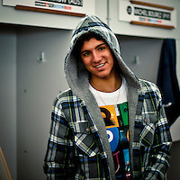 """LA GRAVIERE, Hossegor/France (Tuesday, October 11, 2011) Gabriel Medina (BRA).  – Clean three-to-four foot (1 metre) lefts and rights are on offer this morning at La Graviere, prompting Quiksilver Pro France organizers to call competition back on with Round 4 commencing at 8:15am...Stop No. 8 of 11 on the 2011 ASP World Title season, the Quiksilver Pro France looks to get through Rounds 4 and 5 as well as the Quarterfinals this morning before the high tide fills in...""""Conditions look very contestable this morning and we'll be commencing with men's competition at 8:15am,"""" Rich Porta, ASP International Head Judge, said. """"We're in a race against the high tide today so we're hoping to complete 12 heats of competition before it becomes unmanageable. That said, we'll monitor the conditions throughout the morning and adjust the schedule accordingly.""""..Heat one was stopped after 14 minutes because of fog and the contest was put on hold for the next four hours waiting for the fog to lift..Round four was completed and one heat of Round five before the contest was put back on hold because of the high tide conditions. Photo: joliphotos.com"""