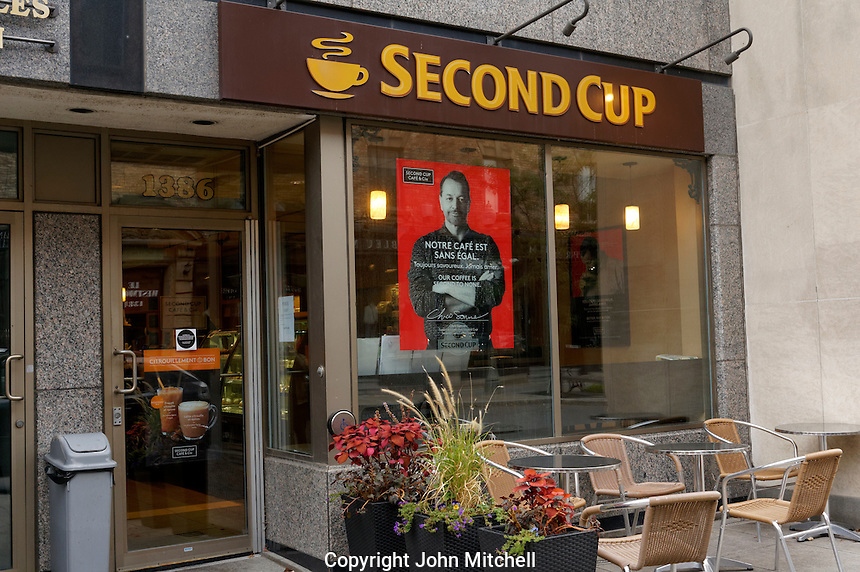 Second Cup coffee house on Greene Avenue in Westmount, Montreal, Quebec, Canada