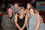 Emma Donnelly with her family and her boyfriend Barry at her 21st in The Star and Crescent...Picture Jenny Matthews/Newsfile.ie