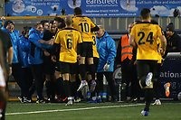 Maidstone players congratulate Simon Walton after scoring their opening goal during Maidstone United vs Wrexham, Vanarama National League Football at the Gallagher Stadium on 17th November 2018