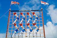Royal Navy acrobatic display team, HMS Sultan, at Gosport near Portsmouth, Hampshire, UK