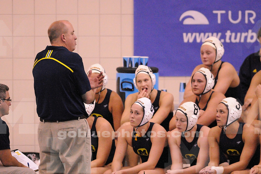 The Michigan women's water polo was defeated by Indiana University 14-7 in their second game of the CWPA Championship in Lewisburg, PA at Bucknell University. April 26, 2014