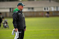 Turbos coach Jeremy Cotter watches his team warm up for the Mitre 10 Cup preseason rugby match between the Wellington Lions and Manawatu Turbos at Otaki Domain in Otaki, New Zealand on Sunday, 6 August 2017. Photo: Dave Lintott / lintottphoto.co.nz