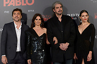 MADRID, SPAIN &ntilde; MARTCH 07: Javier Bardem, Penelope Cruz, Fernando Leon de Aranoa and Julieth Restrepo attends 'Loving Pablo' Premiere at Callao Cinema on March 7, 2018 in Madrid, Spain. <br /> ** NOT FOR SALE IN SPAIN**<br /> CAP/MPI/JOL<br /> &copy;JOL/MPI/Capital Pictures