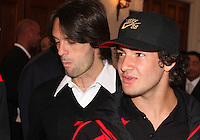 Pato and Alessandro Nesta of AC Milan at a reception for AC Milan at DAR Constitution Hall in Washington DC on May 24 2010.