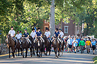 August 23, 2017; ND Trail day 10: Horseback escort from Culver Academies (Photo by Matt Cashore/University of Notre Dame)
