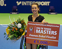 22-12-13,Netherlands, Rotterdam,  Topsportcentrum, Tennis Masters, Wheelchair final, runner up  Marjolein Buis(NED)<br /> Photo: Henk Koster