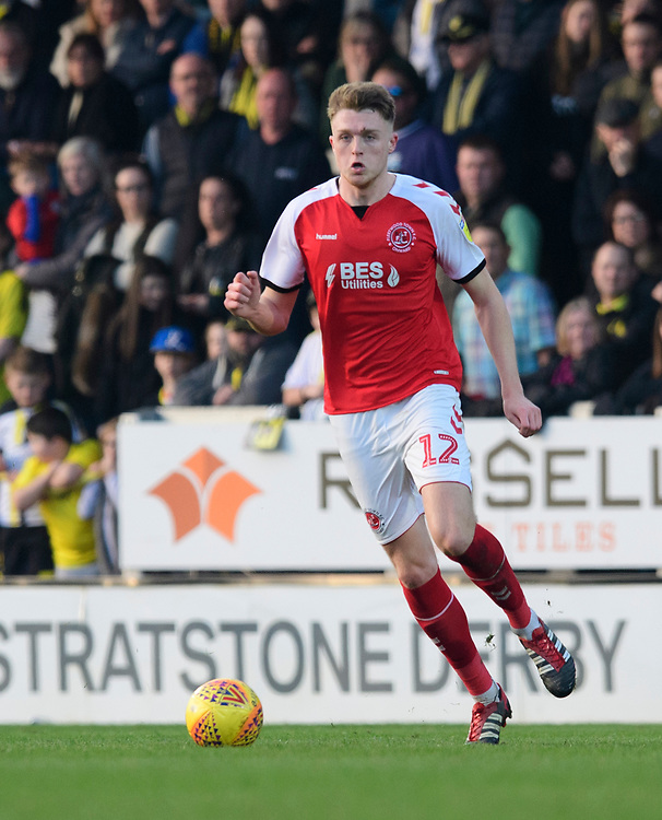 Fleetwood Town's Harry Souttar<br /> <br /> Photographer Chris Vaughan/CameraSport<br /> <br /> The EFL Sky Bet League One - Saturday 23rd February 2019 - Burton Albion v Fleetwood Town - Pirelli Stadium - Burton upon Trent<br /> <br /> World Copyright © 2019 CameraSport. All rights reserved. 43 Linden Ave. Countesthorpe. Leicester. England. LE8 5PG - Tel: +44 (0) 116 277 4147 - admin@camerasport.com - www.camerasport.com