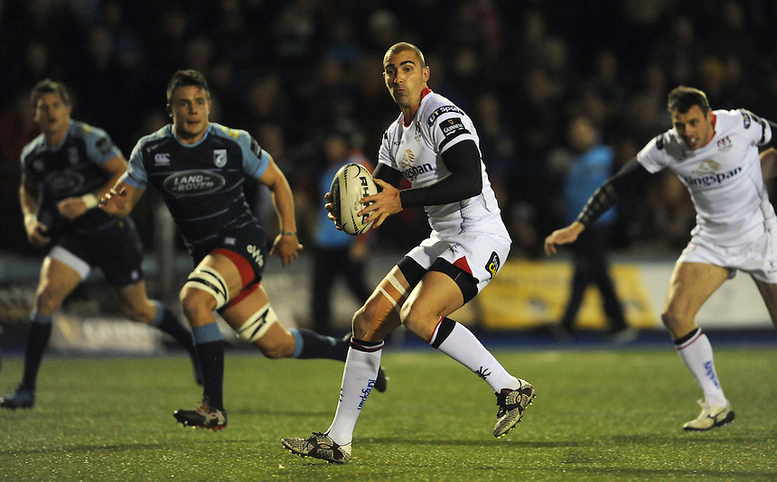 Ulster's Ruan Pienaar in action during todays match<br /> <br /> Photographer Ian Cook/CameraSport<br /> <br /> Guinness PRO12 Round 10 - Cardiff Blues v Ulster Rugby - Saturday 3rd December 2016 - Cardiff Arms Park - Cardiff<br /> <br /> World Copyright &copy; 2016 CameraSport. All rights reserved. 43 Linden Ave. Countesthorpe. Leicester. England. LE8 5PG - Tel: +44 (0) 116 277 4147 - admin@camerasport.com - www.camerasport.com