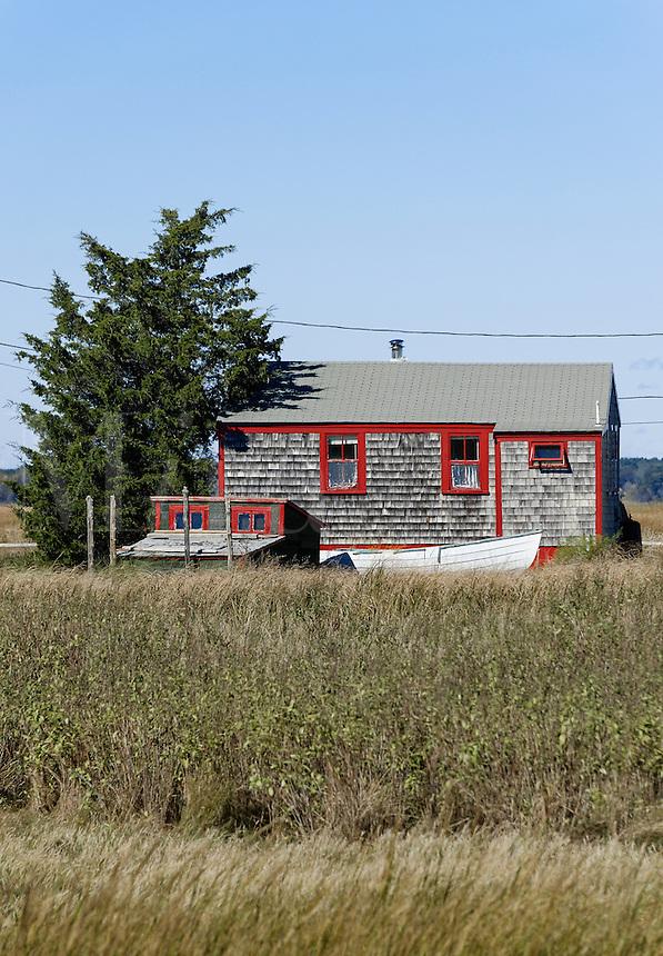 Rustic coastal cottage, Cape Cod, Massachusetts, USA.