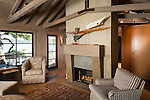Interior photo of home on remote Shaw Island This image is available through an alternate architectural stock image agency, Collinstock located here: http://www.collinstock.com