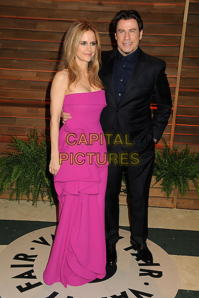 02 March 2014 - West Hollywood, California - Kelly Preston, John Travolta. 2014 Vanity Fair Oscar Party following the 86th Academy Awards held at Sunset Plaza.  <br /> CAP/ADM/BP<br /> &copy;Byron Purvis/AdMedia/Capital Pictures