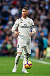 Sergio Ramos of Real Madrid in action during the La Liga 2018-19 match between Real Madrid and Real Valladolid at Estadio Santiago Bernabeu on November 03 2018 in Madrid, Spain. Photo by Diego Souto / Power Sport Images