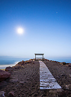 Fine Art Landscape Photograph of early morning moonbeams. <br /> <br /> The rays of light shining from the moon cast a bright light onto this pathway that lead to the sea. <br /> <br /> The bright light that was coming from this full moon and was shining onto this pathway reminded me of being guided to the light.