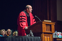 President Jonathan Veitch. Incoming first-years start the year at Occidental College's 127th annual Convocation ceremony on Aug. 28, 2013 in Thorne Hall.<br /> (Photo by Marc Campos, Occidental College Photographer)