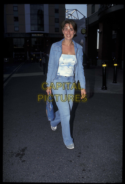CLAIRE SWEENEY.28 May 2001.Ref: 10877.full length, full-length.*RAW SCAN- photo will be adjusted for publication*.www.capitalpictures.com.sales@capitalpictures.com.©Capital Pictures