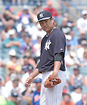 Masahiro Tanaka (Yankees),<br /> MARCH 25, 2015 - MLB :<br /> Pitcher Masahiro Tanaka of the New York Yankees during a spring training baseball game against the New York Mets at George M. Steinbrenner Field in Tampa, Florida, United States. (Photo by AFLO)