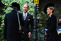 Pictured: Sophie, Countess of Wessex (right) and Prince Edward (centre), Earl of Wessex arrive at Llandaff Cathedral, Cardiff, Wales, UK.  Sunday 11 November 2018<br /> Re: Commemoration for the 100 years since the end of the First World War on Remembrance Day at the Llandaff Cathedral, in Llandaff, Cardiff, Wales, UK.
