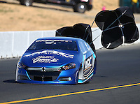 Jul 30, 2016; Sonoma, CA, USA; NHRA pro stock driver Alan Prusiensky during qualifying for the Sonoma Nationals at Sonoma Raceway. Mandatory Credit: Mark J. Rebilas-USA TODAY Sports
