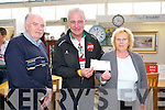 Tom and Helen O'Connor, Causeway presented a Cheque to Fionnbar Walsh, of €970.00 raised from the  O'Connor Memorial Quiz held recently at the Ballyseedy Garden centre Family Fun day on Sunday