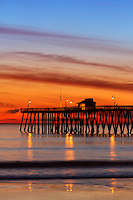 San Clemente Pier at Sunset in Orange County California