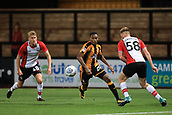 3rd October 2017, The Abbey Stadium, Cambridge, England; Football League Trophy Group stage, Cambridge United versus Southampton U21; Jevani Brown of Cambridge United takes on Aaron O'Driscoll of Southampton