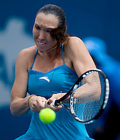 Jalena Jankovic (SRB) aganst Agnes Szavay (Hun) in the first rpound of the Ladies Singles. Szavay beat jankovic 5-7 6-1 7-6.International Tennis - Medibank International Sydney - MON 11 Jan 2010 - Sydney Olympic Park  Tennis Centre- Sydney - Australia ..© Frey - AMN Images, 1st Floor, Barry House, 20-22 Worple Road, London, SW19 4DH.Tel - +44 20 8947 0100.mfrey@advantagemedianet.com