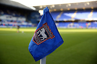 The corner flag before Ipswich Town vs Lincoln City, Emirates FA Cup Football at Portman Road on 9th November 2019