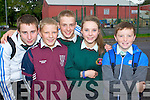 Students from Causeway Copprehensive School at the Anti Bullying Campaign for secondary School students at Listowel Community Centre on Monday from left: Dave Kissane, Gerard Leane, Matt Tyrkiel, Rachel Griffin and Shane Conway.
