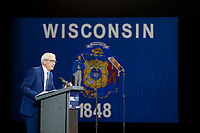 Wisconsin Gubenatorial  candidate Tony Evers speaks during a Democratic campaign rally before the midterm elections in October 2018.