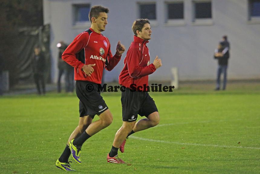 Joselu und Pirmin Schwegler (Eintracht)