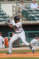Augusta GreenJackets outfielder Shawn Payne #5 at bat during a game against the Charleston RiverDogs at Joseph P. Riley Jr. Ballpark on April 13, 2014 in Charleston, South Carolina. Augusta defeated Charleston 2-1. (Robert Gurganus/Four Seam Images)
