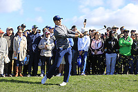 Jordan Spieth (USA) plays his 3rd shot from the rough on the 6th hole at Pebble Beach Golf Links during Saturday's Round 3 of the 2017 AT&amp;T Pebble Beach Pro-Am held over 3 courses, Pebble Beach, Spyglass Hill and Monterey Penninsula Country Club, Monterey, California, USA. 11th February 2017.<br /> Picture: Eoin Clarke | Golffile<br /> <br /> <br /> All photos usage must carry mandatory copyright credit (&copy; Golffile | Eoin Clarke)