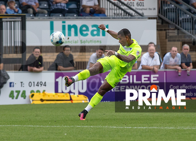 Richard Brindley of Colchester United during the Sky Bet League 2 match between Wycombe Wanderers and Colchester United at Adams Park, High Wycombe, England on 27 August 2016. Photo by Liam McAvoy.
