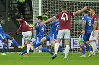 Felipe Anderson Of West Ham United shoots  during West Ham United vs Cardiff City, Premier League Football at The London Stadium on 4th December 2018